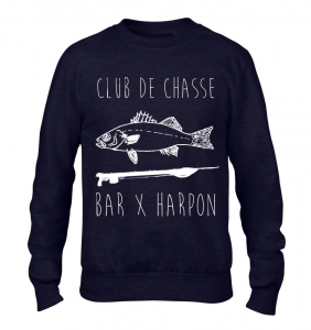Sweat Club de Chasse bleu marine