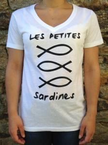 T-shirt Les Petites Sardines blanc