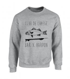 Sweat Club de Chasse gris chiné
