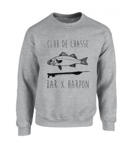 Sweat Club de Chasse gris chiné