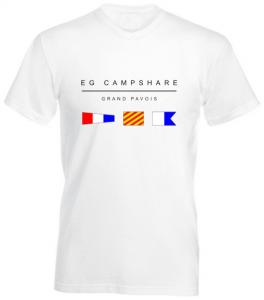 T-shirt blanc avec imprimé Grand Pavois