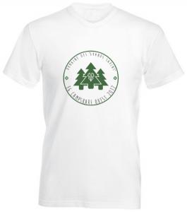 T-shirt blanc avec imprimé Domaine Des Grands Sapins