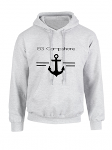 Sweat capuche gris ancre