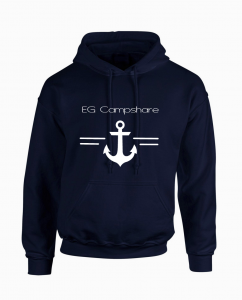Sweat capuche navy ancre