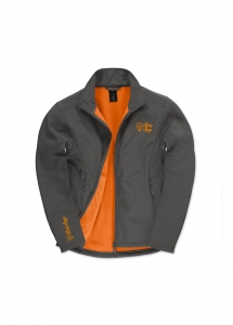 softshell homme orange