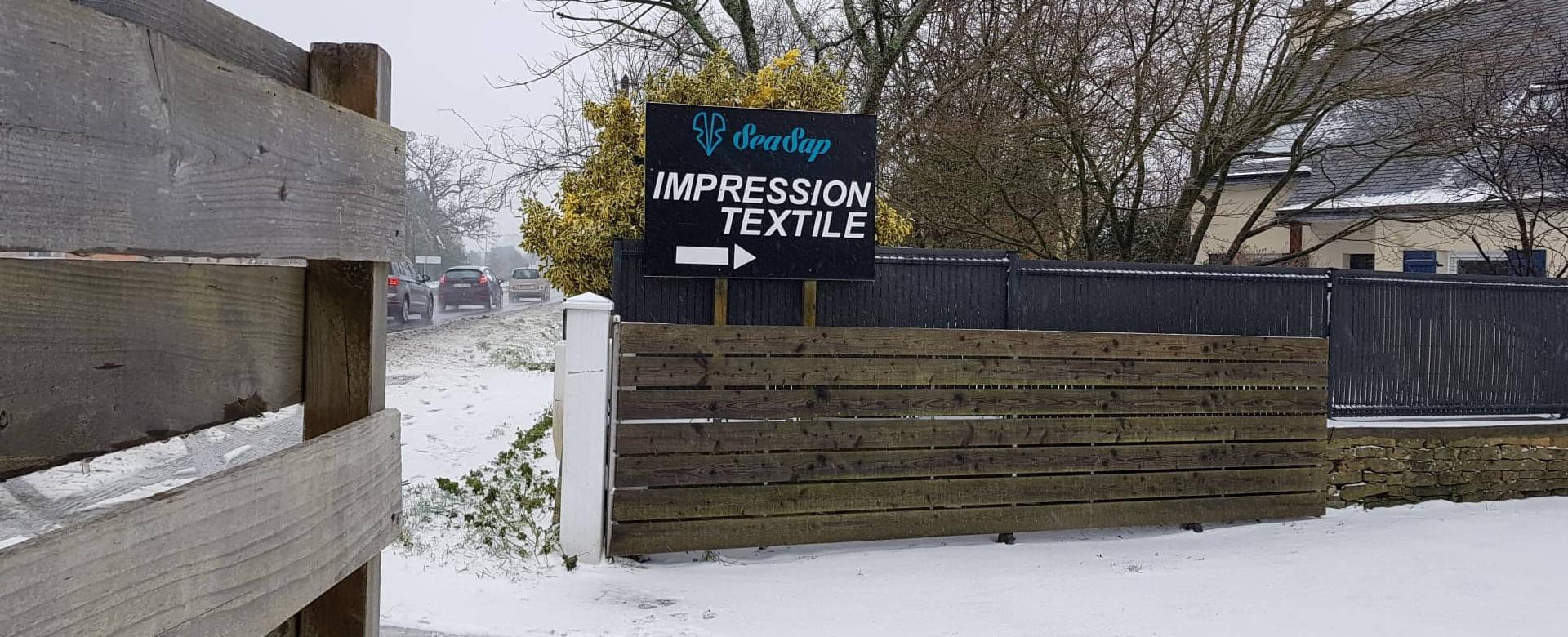 Entrée atelier impression textile SeaSap